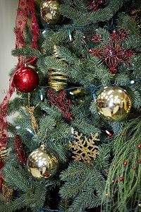 Holiday Tree with Ornaments